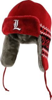 Louisville Cardinals Red New Era Team Trapper Trooper Hat