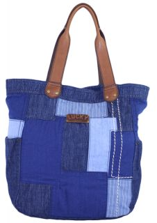 Lucky Brand Rain or Shine Denim Patchwork Tote Bag New