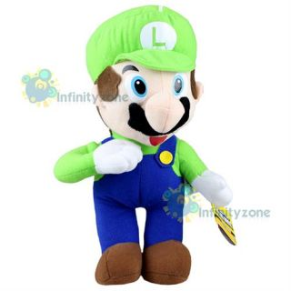 NEW Nintendo Super Mario Bros 12 Luigi Green Stand Plush Figure Doll
