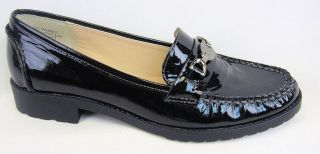 77 Anne Klein Lyndsy Black Patent Leather Loafer 7 5M 110