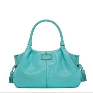 Kate Spade MacDougal Alley Stevie Carribean Leather Handbag $395