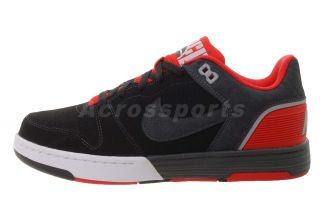Nike Mach Force Sportswear Black Red Mens Casual Shoes 525313 060