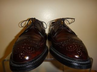 Allen Edmonds MacNeil Mens Cordovan Leather Wingtip Oxfords Shoe Shoes