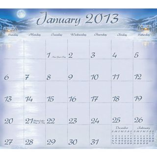 Cabin View 2013 Magnetic Mount Wall Calendar