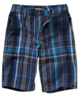 Quiksilver Kids Shorts, Boys Neolithic Amphibian Plaid Shorts   Kids