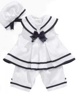 Rare Editions Baby Dress, Baby Girls Nautical Sailor Dress with Hat