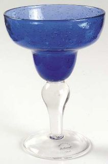Collection Bubbled Cobalt Blue Margarita Glasses New in Box
