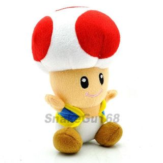 Red Toad Super Mario Brother Plush Doll Toy MX189