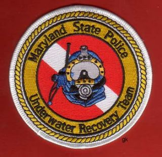 Maryland State Police Scuba Dive Patch