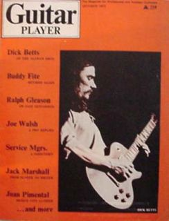 guitar player magazine october 1972 dick betts rare allman bros
