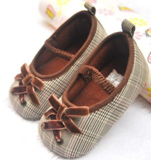 Brown Bows Mary Jane Kids Baby Girl Shoes Size 2 3