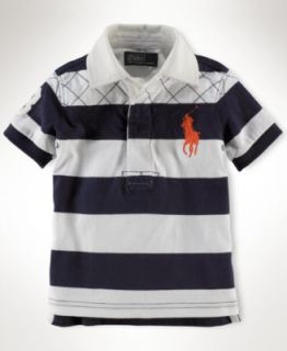 Ralph Lauren Baby Shirt, Baby Boys Stripe Rugby Polo Shirt