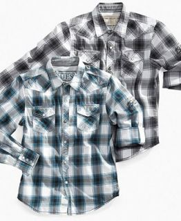 GUESS Kids Shirt, Boys Dakota Plaid Shirt