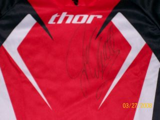 Jeremy McGrath Signed Autographed Thor Jersey Phase Red Black Med