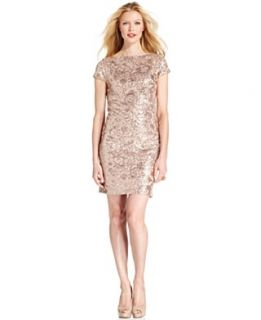 Jessica Howard Petite Dress, Cap Sleeve Sequin Shift