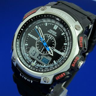 2012 New OHSEN Mens Analog Digital LED Big Face Rubber Sport Watch 6