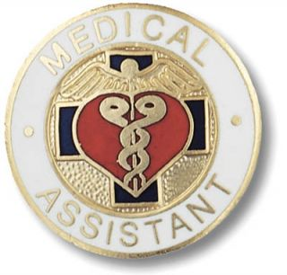 Medical Assistant Nurse Insignia Emblem Pin w Safety