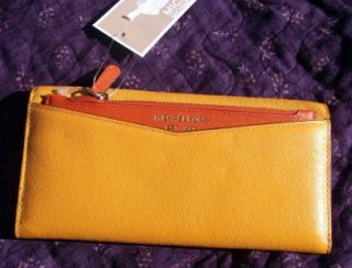 NWT MICHAEL KORS SAFFIANO COLOR BLOCK SUN LEATHER WALLET CARRYALL $138