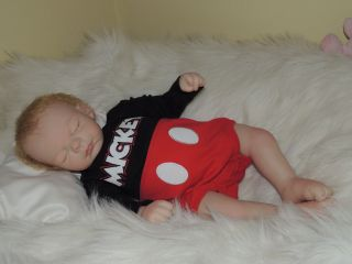 Adorable Reborn Michelle Fagan Ryan Baby Boy Mickey Mouse Must See