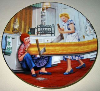 Love Lucy Lucille Ball Rising Problem Plate MIB COA