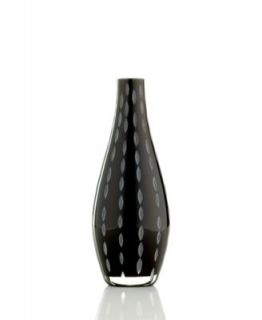 Sasaki Stitch Black Vase, 8.5   Collections   for the home