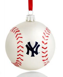 Kurt Adler Christmas Sports Ornament, Yankees Glass MLB Baseball