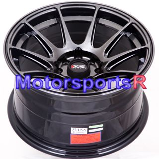 XXR 527 Chromium Black Concave Rims Wheels 4x100 90 00 05 Mazda Miata