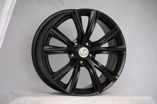 18 LFLC Style Matte Black Wheels Rims Fit Nissan 350Z 370Z Altima