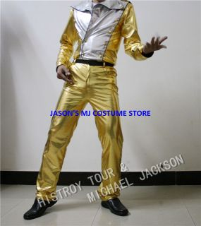 Michael Jackson Gold History Tour Full Outfit Any Size