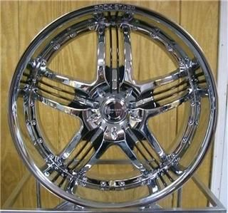 20 inch Rims and Tires Wheels 4o GM Ford Chrome 41O