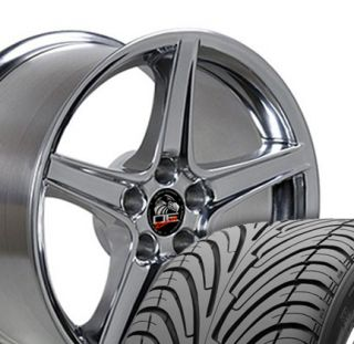 18 Polished Saleen Style Wheels Tires Rims Fits Mustang® GT