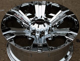 Road Outlaw 902 20 Chrome Rims Wheels Suburban Avalanche 8 Lug