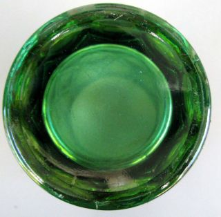 Millersburg Diamonds Green Carnival Glass Tumbler Circa 1910s