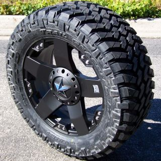 20 BLACK XD ROCKSTAR WHEELS & 33 NITTO TRAIL GRAPPLER 8 LUG CHEVY