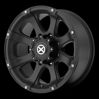 15 inch 15x7 Teflon Black Ledge Wheels 5 Lug Ford Ranger Jeep Wrangler