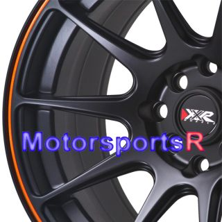 15 8 25 XXR 527 Black Orange Stripe Concave Rims Wheels Stance 84 86
