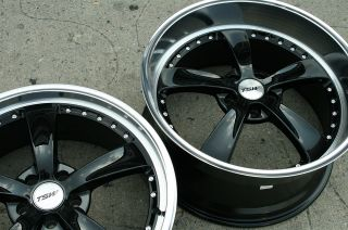 19 Black Rims Wheels Nissan 350Z Staggered 19 x 8 0 9 5 5H 40