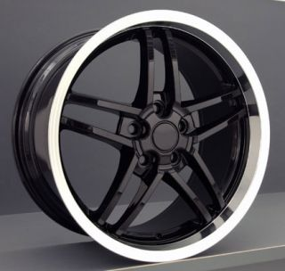 18 19 8 5 10 Black C6 Z06 Deep Dish Wheels Rims Fit Camaro Corvette