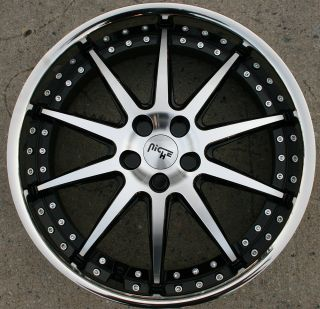 22 Black Rims Wheels Ford Mustang V6 V8 05 Up 22 x 9 0 5H 38
