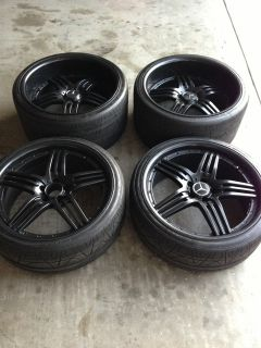 Black Mercedes Benz AMG Replica 20 Rims E CLS s CL SL