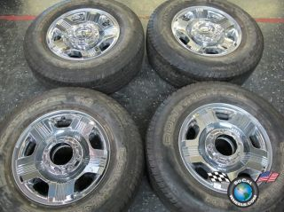 06 12 Ford F250 F350 Factory 18 Chrome Clad Wheels Tires Rims 3688 275