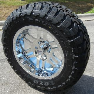 20 CHROME MOTO METAL 951 WHEELS & 33 TOYO MT TIRES FORD F150