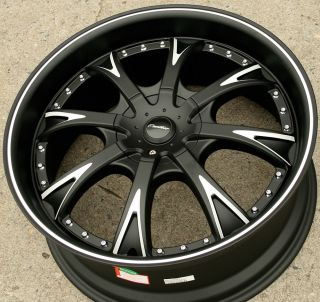 20 Black Rims Wheels Ford Fusion Flex Mustang 20 x 8 5 5H 35