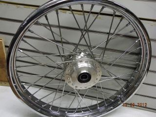 FRONT SPOKE WHEEL HARLEY SPORTSTER DYNA 21 1 AXLE FACTORY 2000^ 883