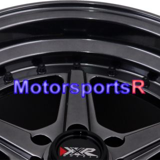 15 15x8 XXR 501 Chromium Black Rims Wheels Deep Dish 95 98 Honda Civic