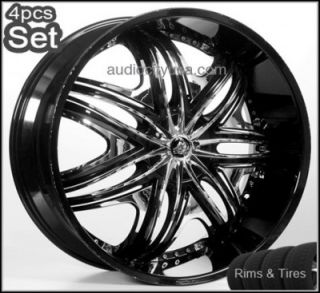 28 Diablo Wheels and Tires Pkg for Lexus Impala Honda Audi Jaguar