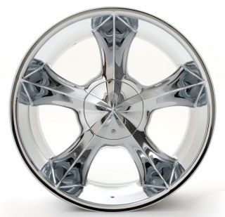 24 Player 817 Chrome Rims Tires Pkg Custom Drill Fits Most Cars and