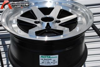 Racing 4x100 35 Full Royal Black Wheel Fits Honda Fit Civic CRX