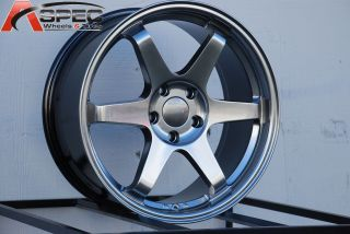 VARRSTOEN ES220 5X114.3 +12 HYPER BLACK WHEEL FIT NISSAN 240SX G35