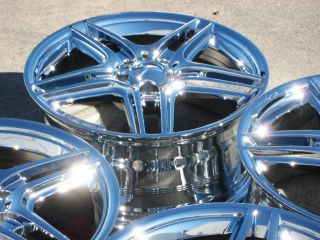 STOCK  2011 12 18 FACTORY MERCEDES AMG E350 E550 CHROME WHEELS RIMS